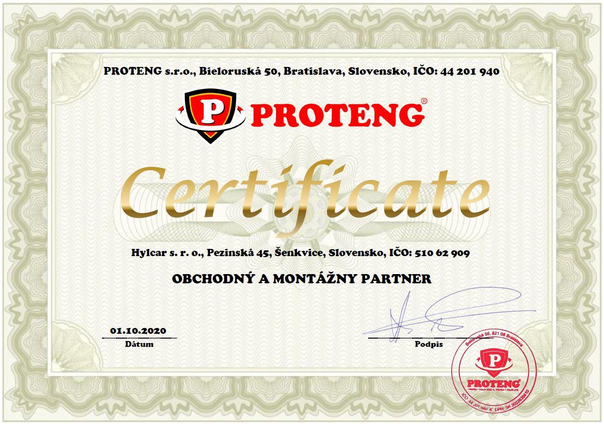 Proteng certifikat
